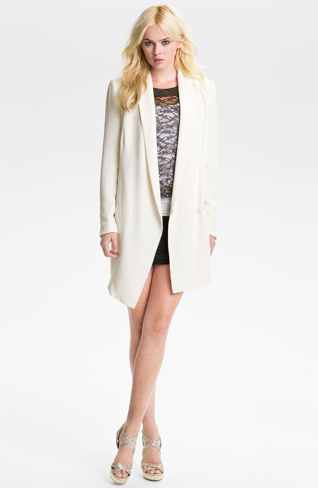 Alternate Image 4  - Haute Hippie One-Button Silk Blazer Dress