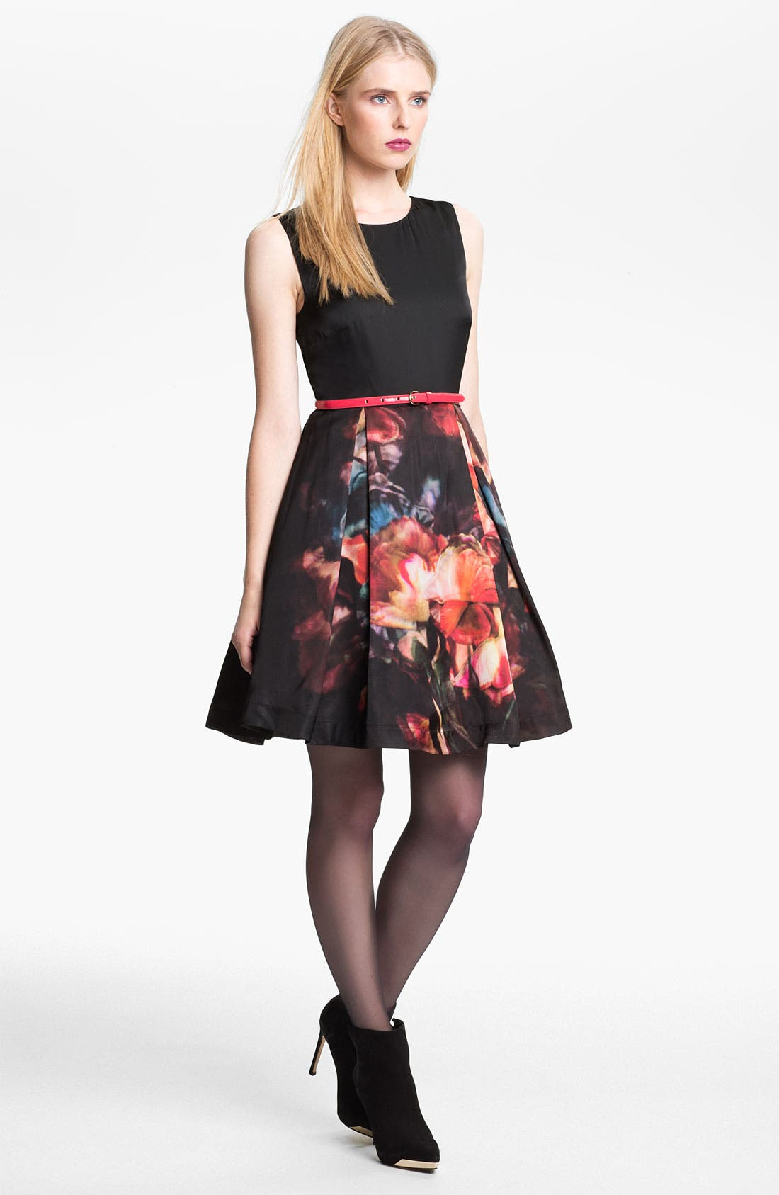 Alternate Image 1 Selected - Ted Baker London 'Marinka' Belted Fit & Flare Dress