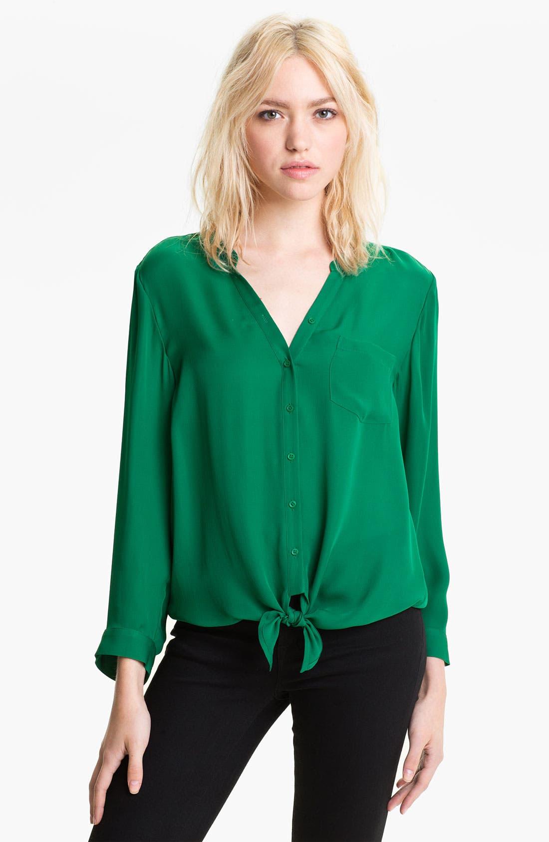 Main Image - Joie 'Edaline' Silk Tie Front Shirt