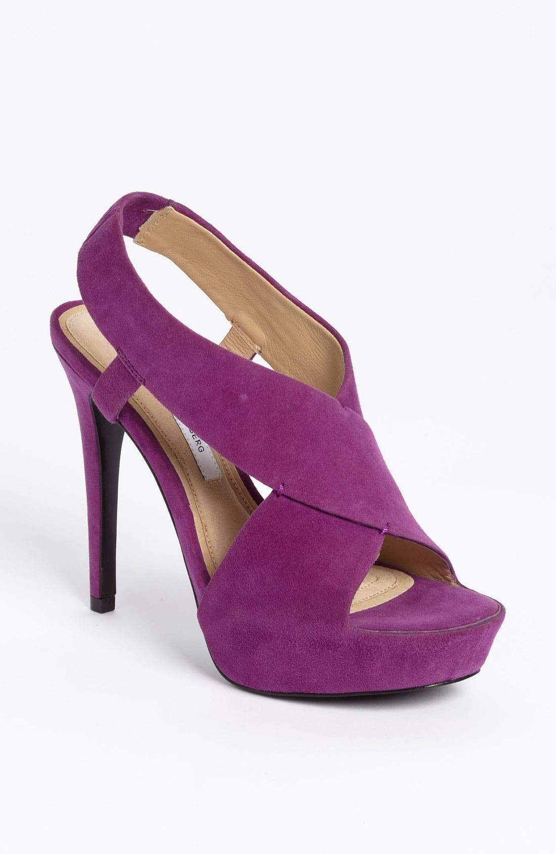 'Zia' Platform Sandal,                             Main thumbnail 1, color,                             Purple