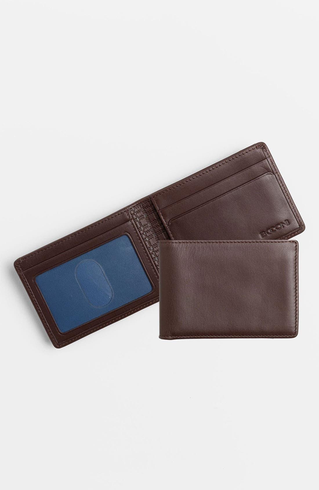 Main Image - Boconi 'Slimster' Calfskin Wallet