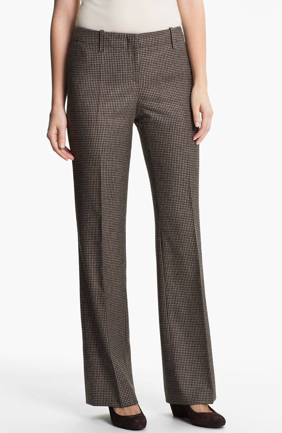 Alternate Image 1 Selected - BOSS HUGO BOSS 'Tulia4' Check Pattern Trousers
