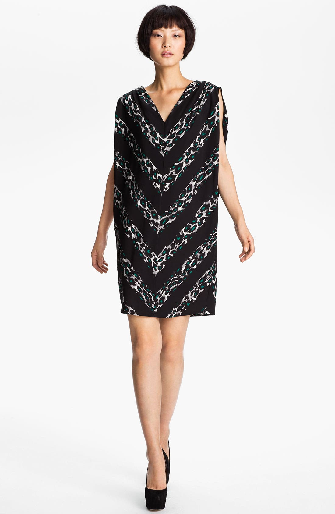 Alternate Image 1 Selected - MSGM Leopard Print Oversized Silk Dress