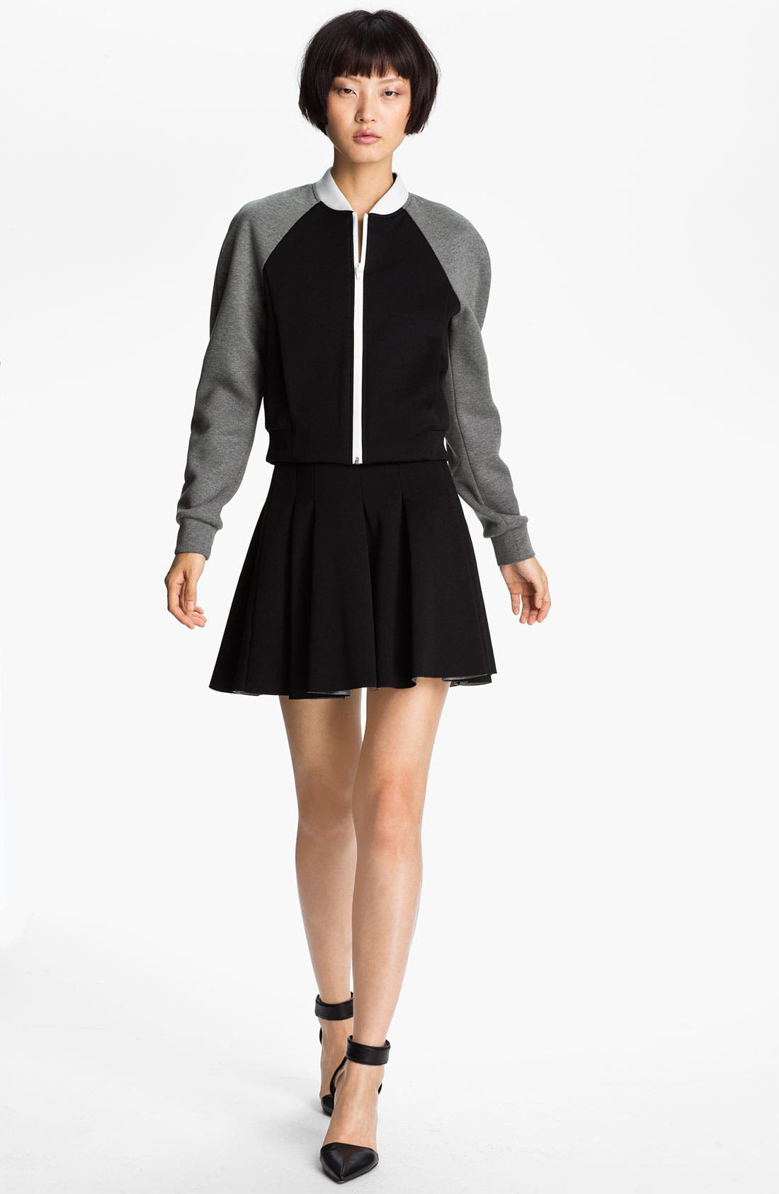 Alternate Image 1 Selected - T by Alexander Wang Neoprene Bomber Jacket