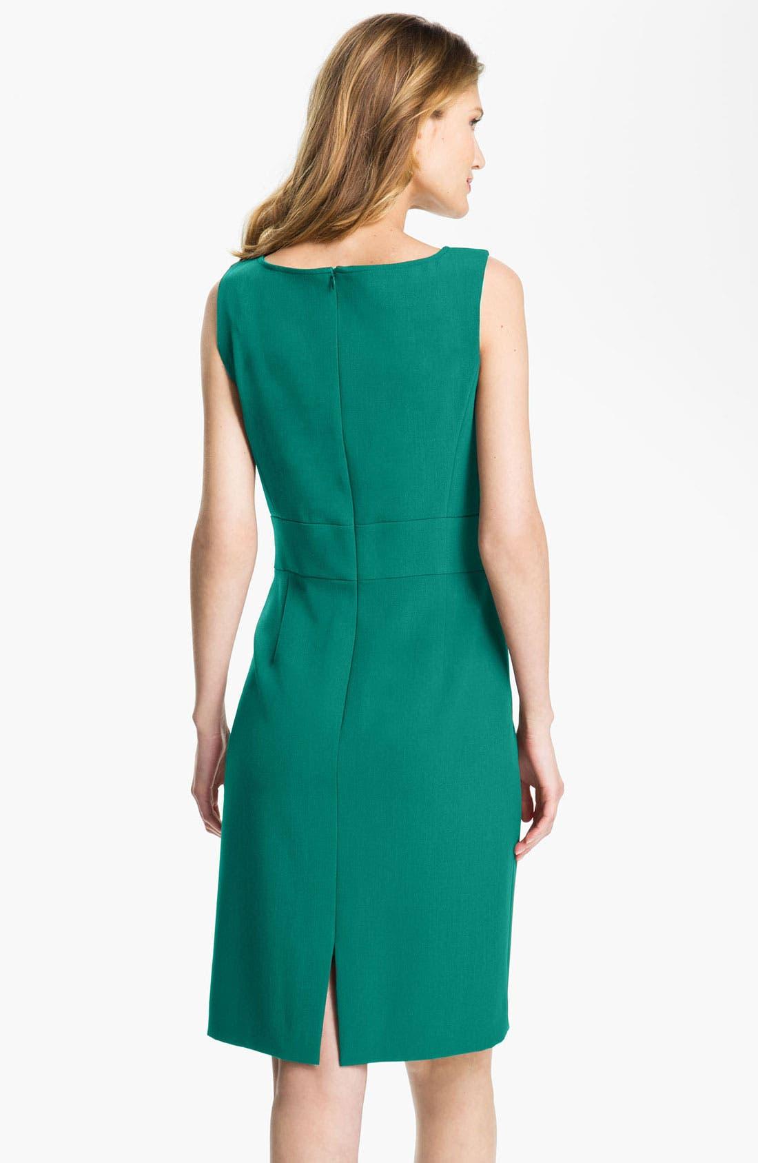 Alternate Image 2  - Tahari Sleeveless Shift Dress