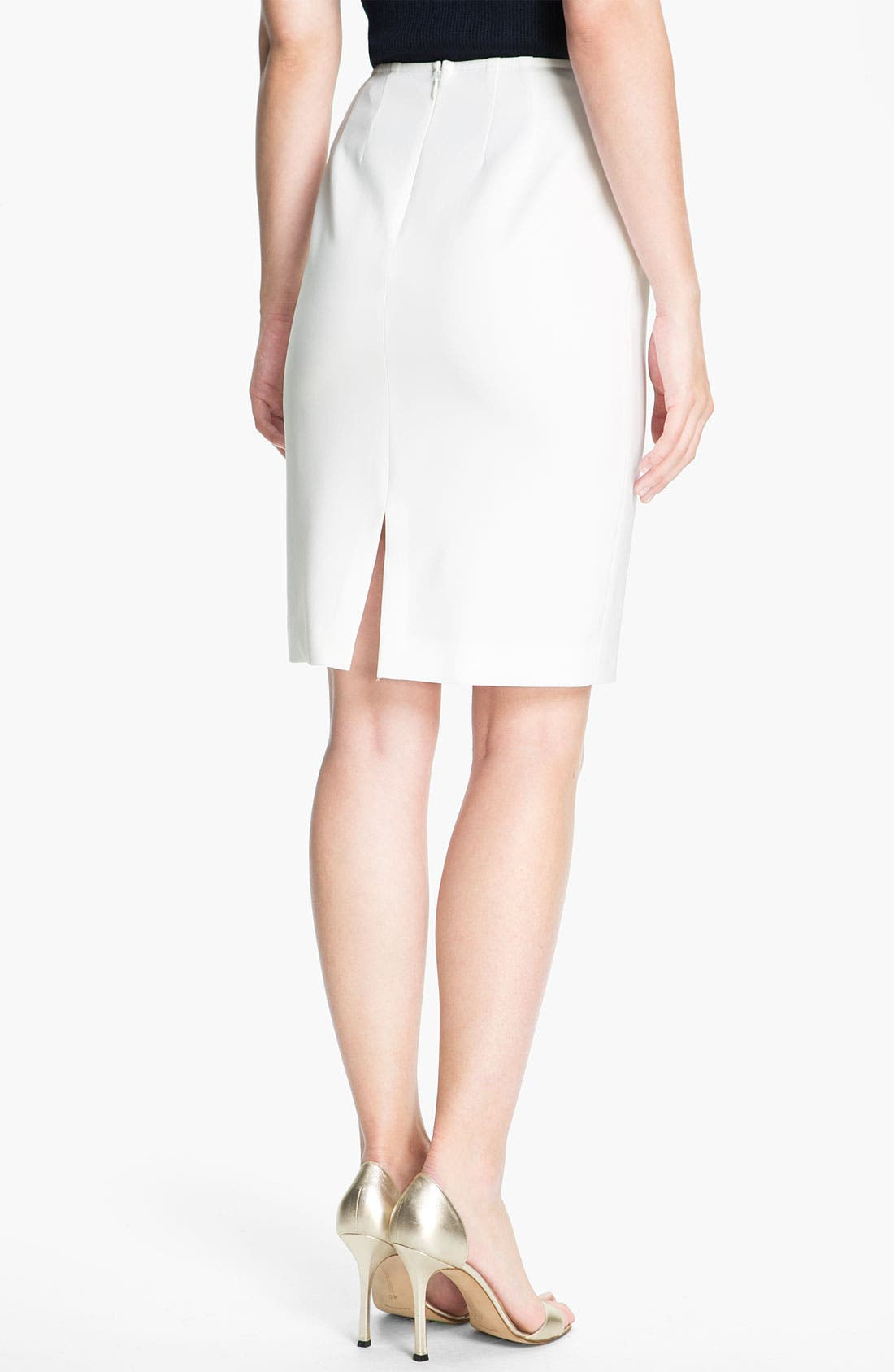 Alternate Image 3  - St. John Collection Crepe Marocain Pencil Skirt