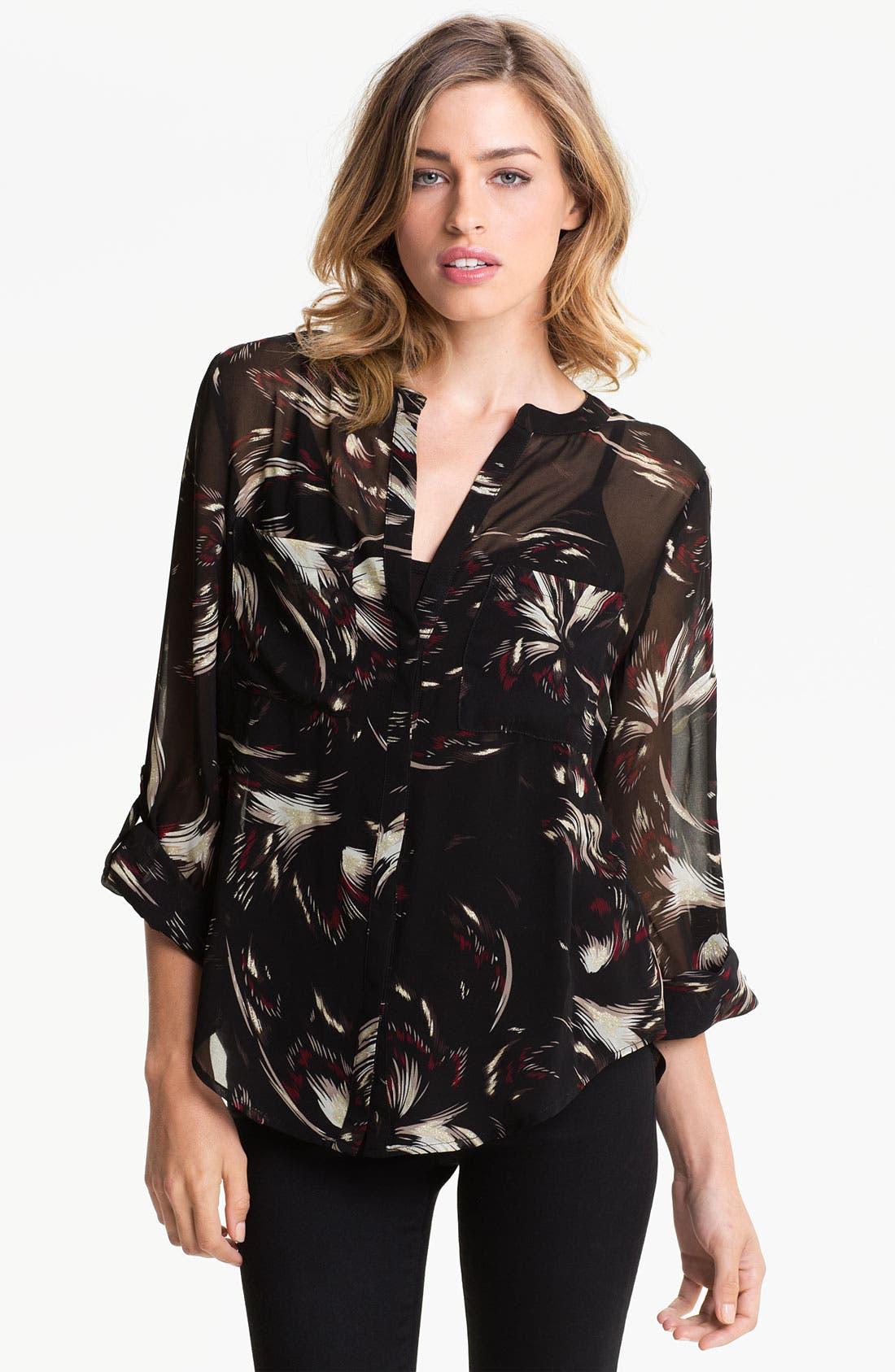 Alternate Image 1 Selected - Sanctuary Print Chiffon Shirt