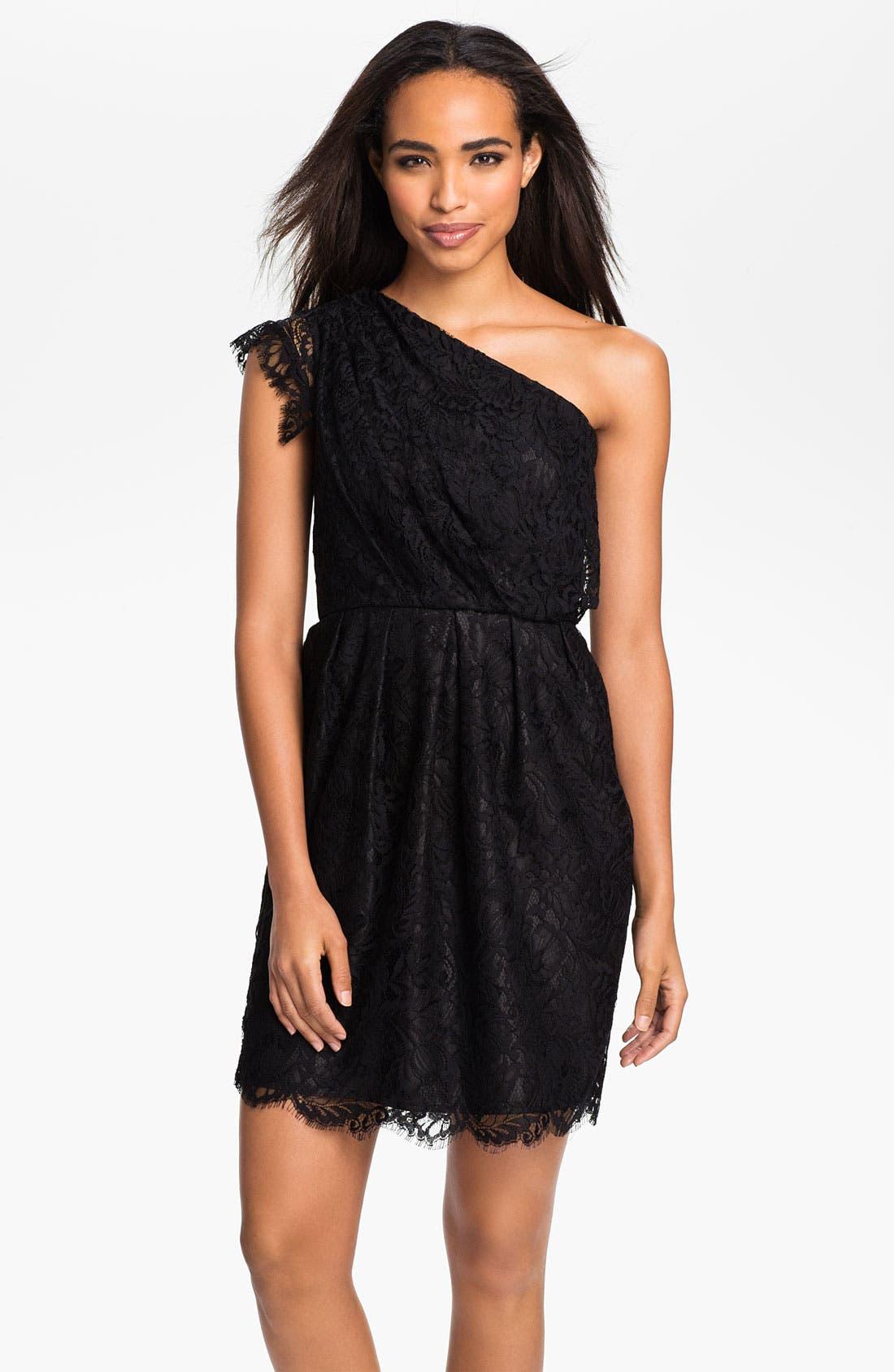 Main Image - Shoshanna 'Verona' One Shoulder Lace Dress
