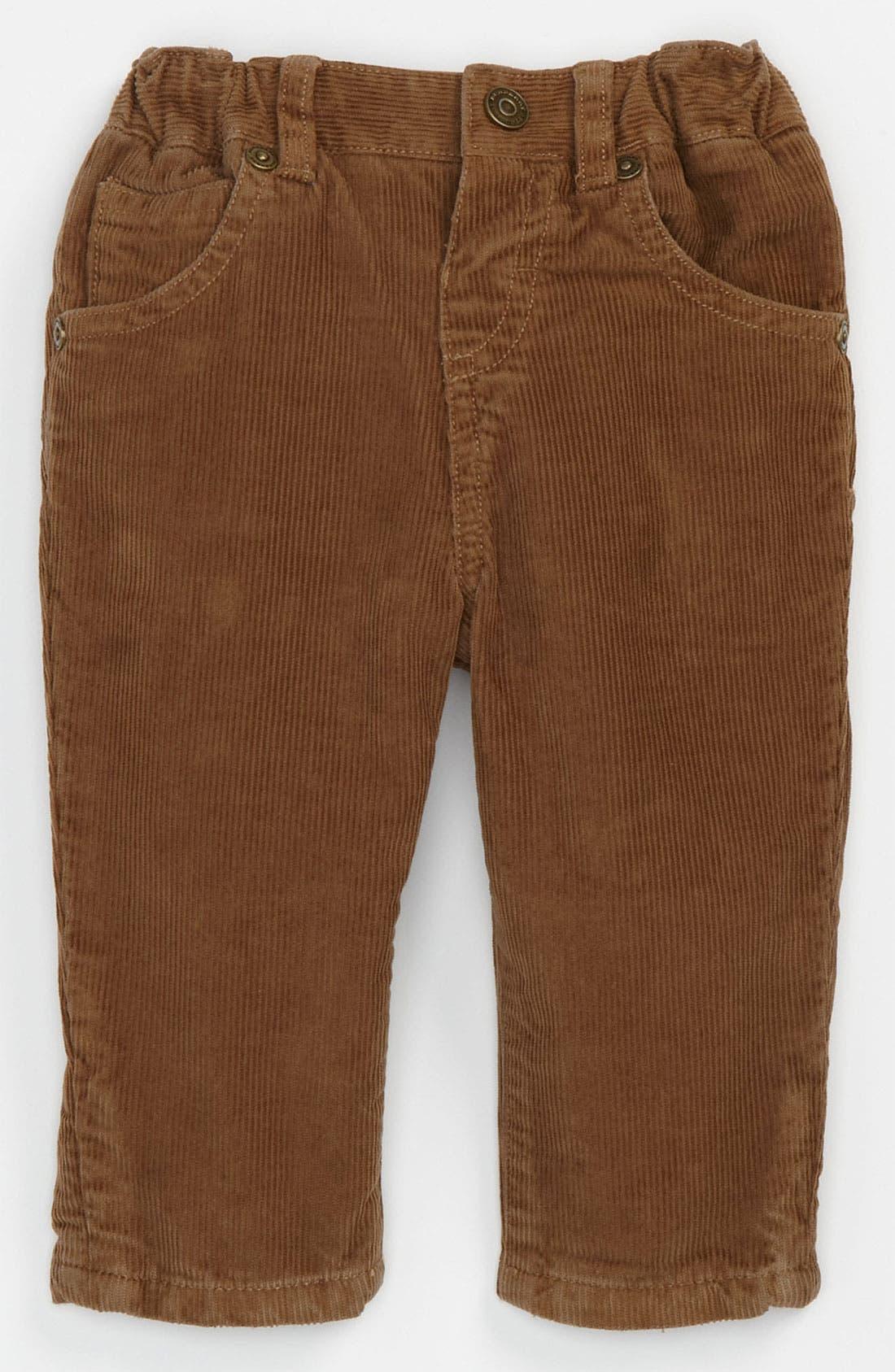 Main Image - Burberry Corduroy Pants (Infant)