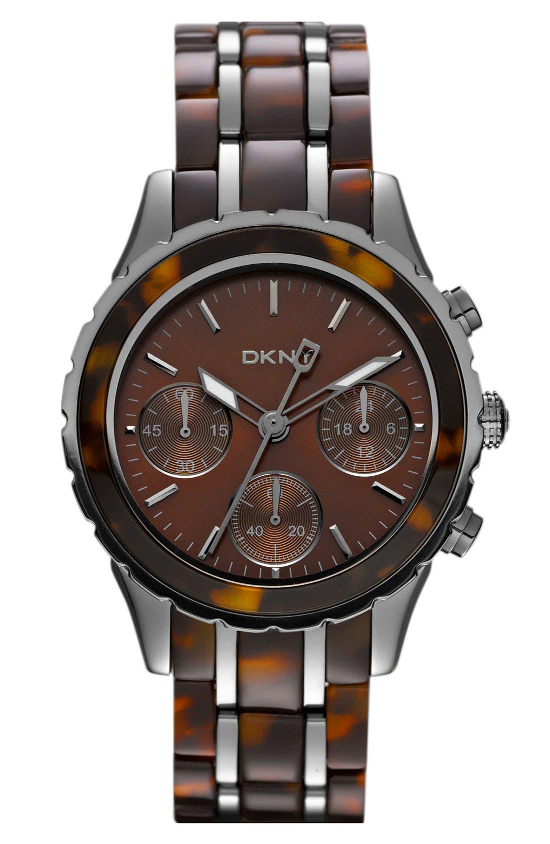Alternate Image 1 Selected - DKNY Chronograph Bracelet Watch