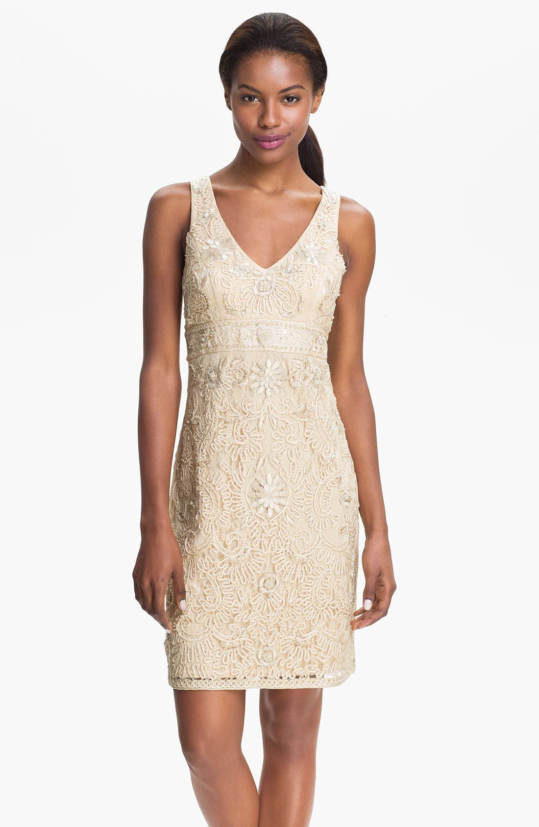 Main Image - Sue Wong Embellished Sheath Dress