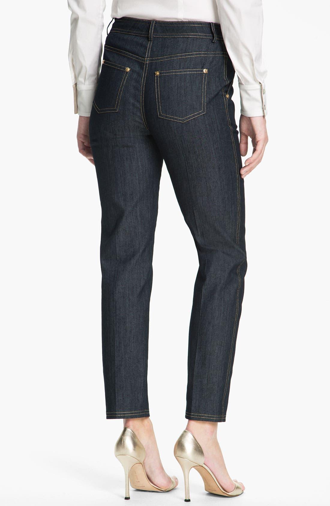 Alternate Image 3  - St. John Collection Lightweight Denim Crop Pants