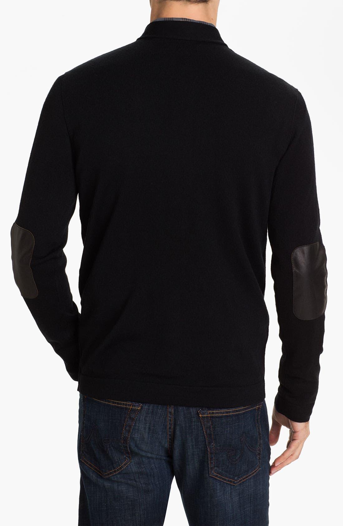 Alternate Image 2  - John Varvatos Star USA Merino Wool Blend Button Cardigan