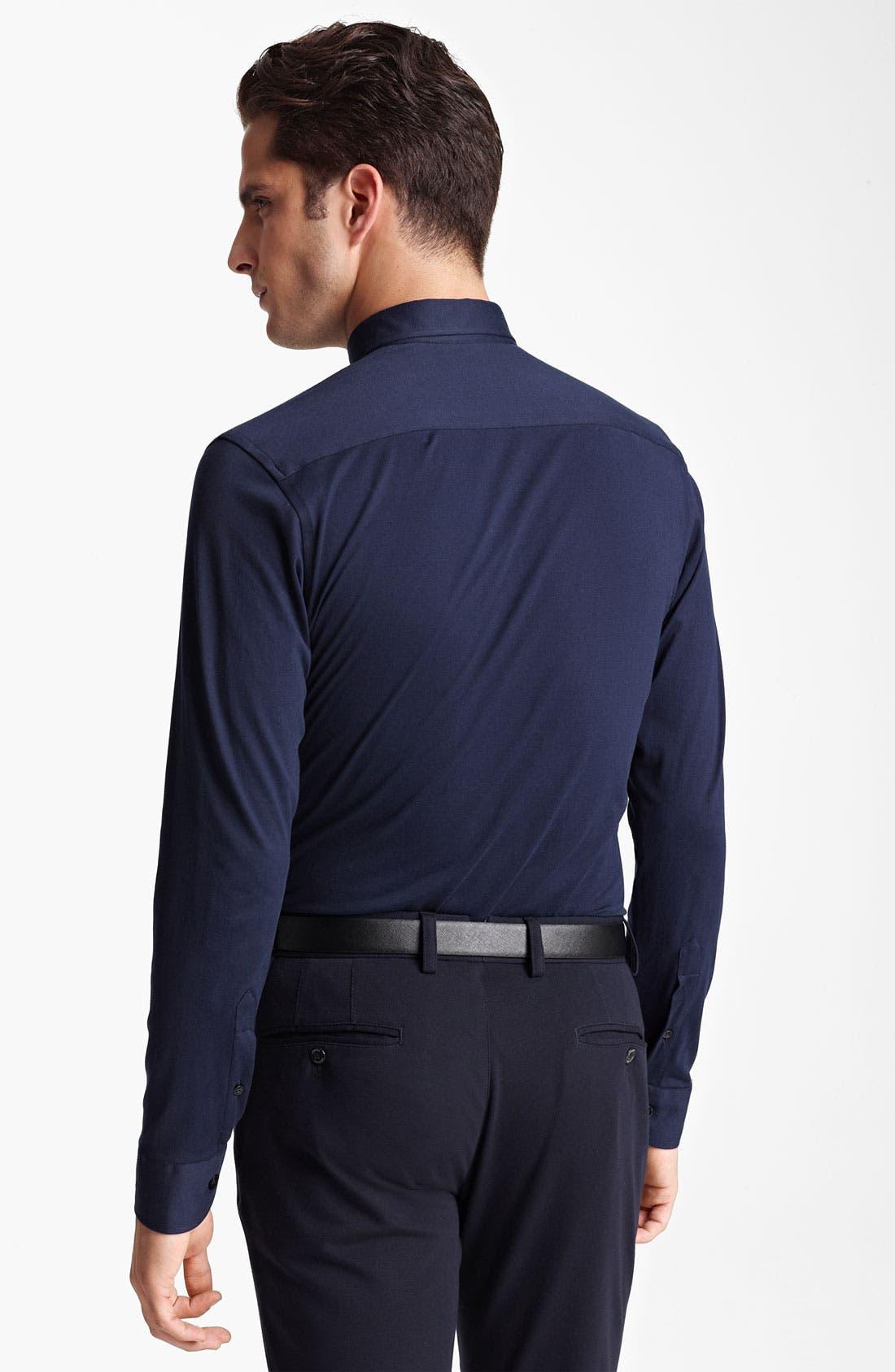 Alternate Image 2  - Armani Collezioni Jersey Cotton Sport Shirt