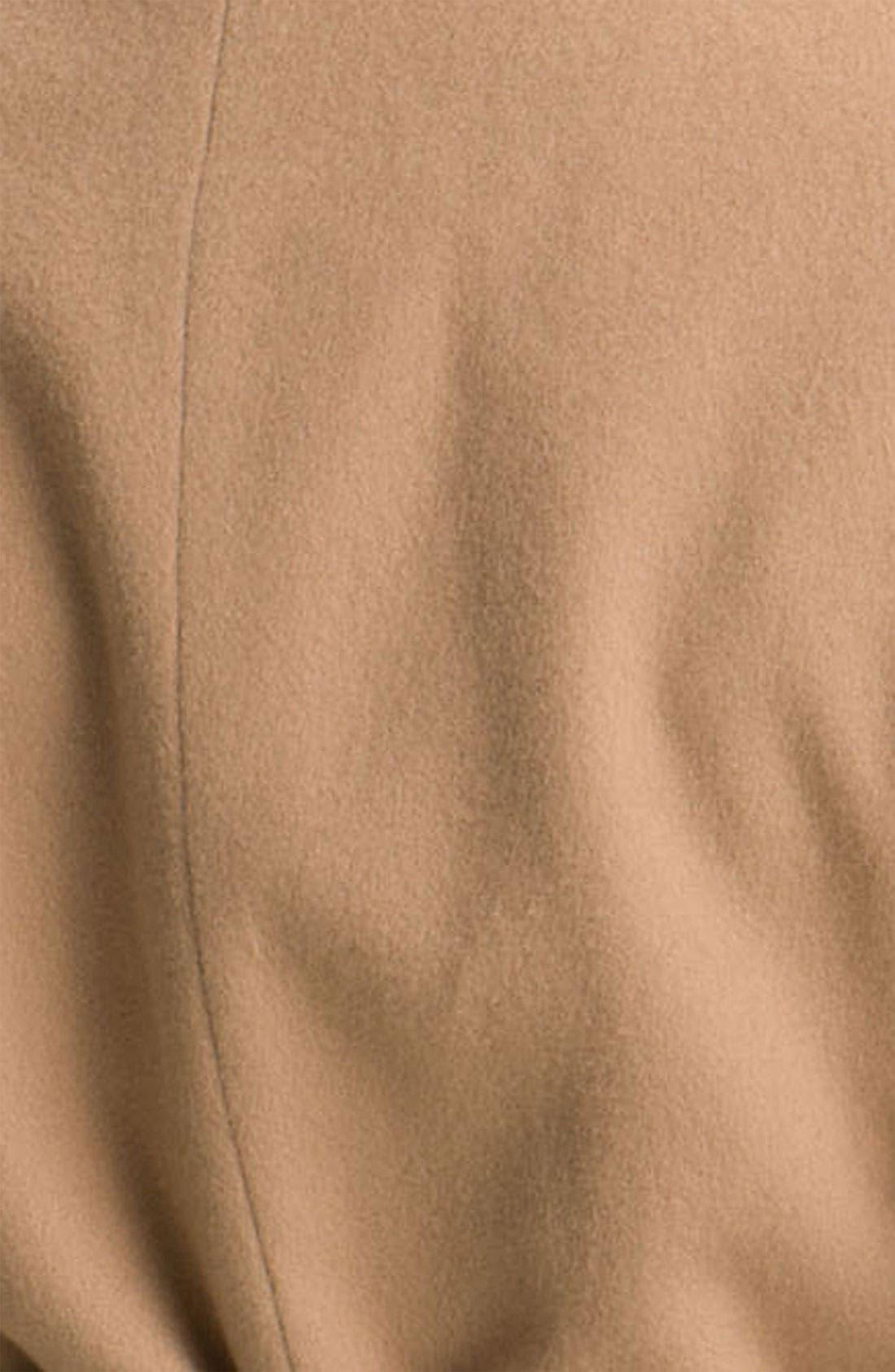 Alternate Image 3  - Fleurette Short Loro Piana Wool Wrap Coat (Petite)