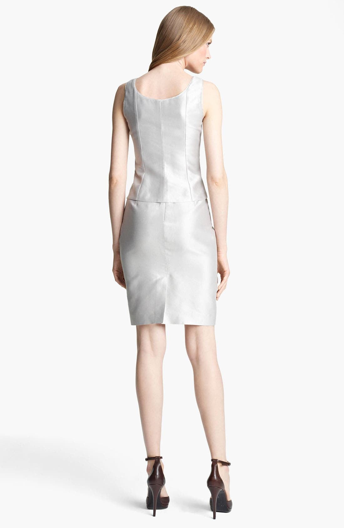 Alternate Image 4  - Armani Collezioni Straight Taffeta Skirt