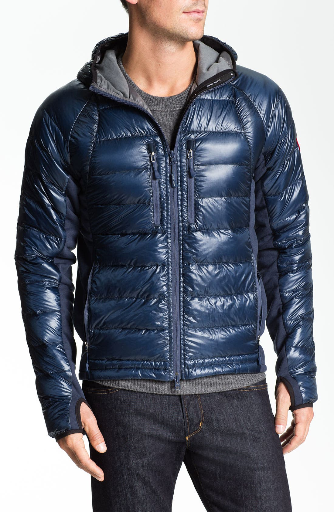 Main Image - Canada Goose 'Hybridge' Quilted Goose Down Hooded Jacket