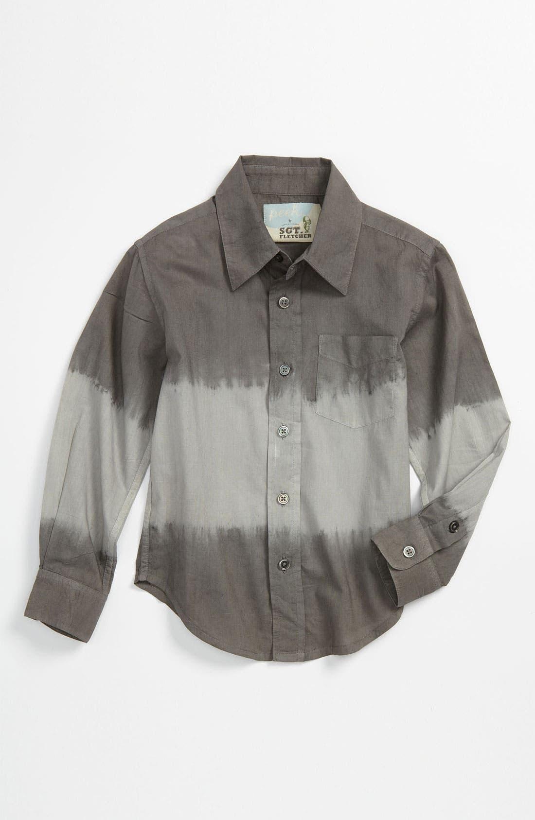 Main Image - Peek 'Dylan' Dip Dye Shirt (Toddler, Little Boys & Big Boys)