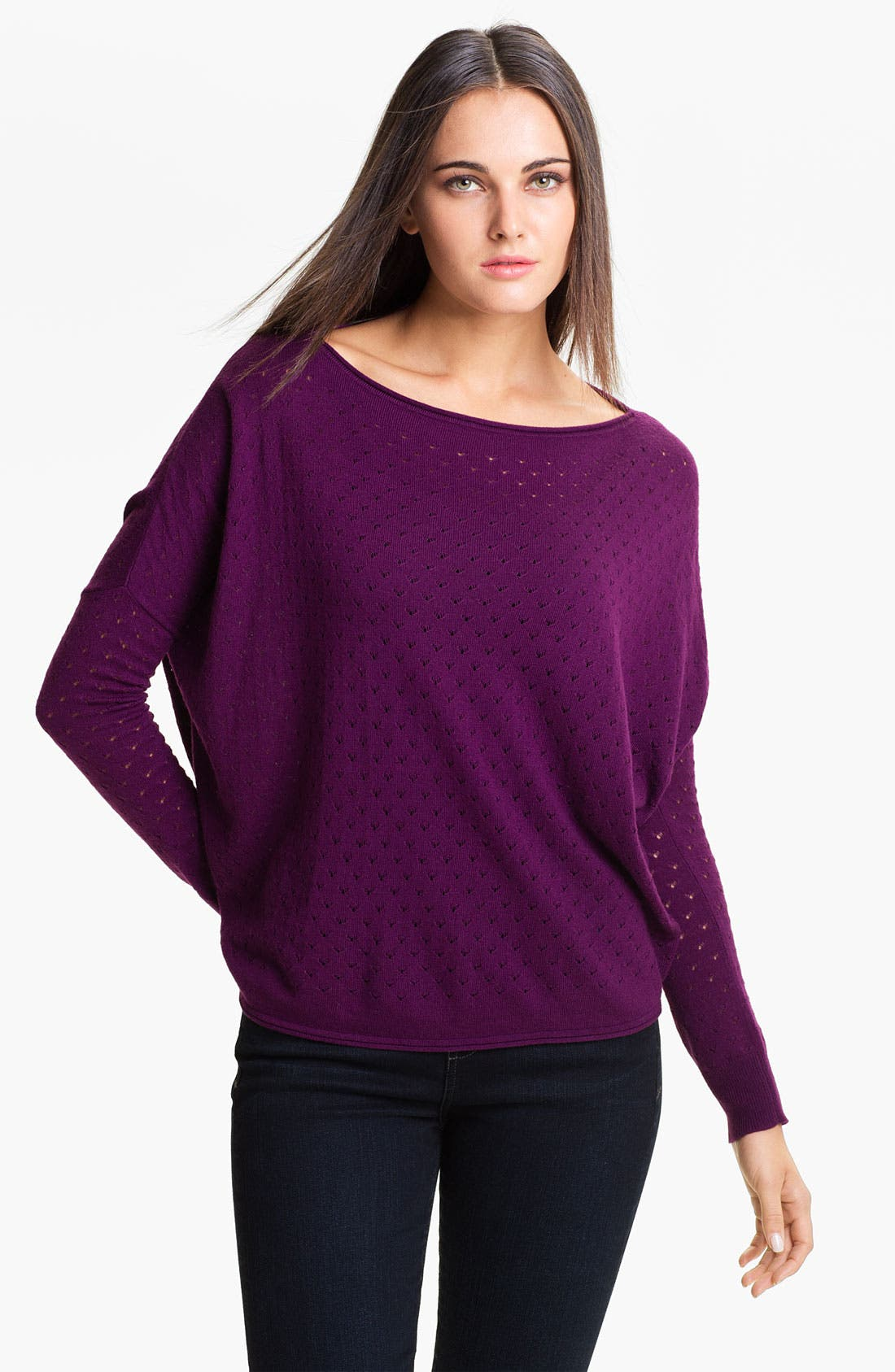 Alternate Image 1 Selected - Vince Camuto Pointelle Sweater (Online Exclusive)