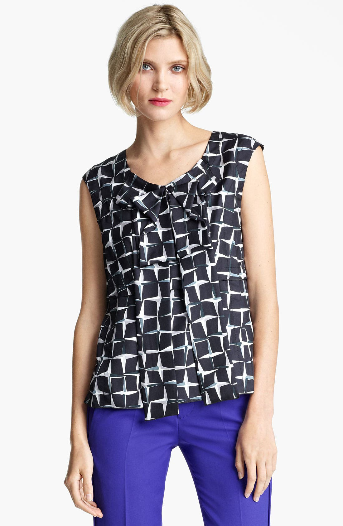 Main Image - MARC JACOBS Diamond Print Silk Twill Top