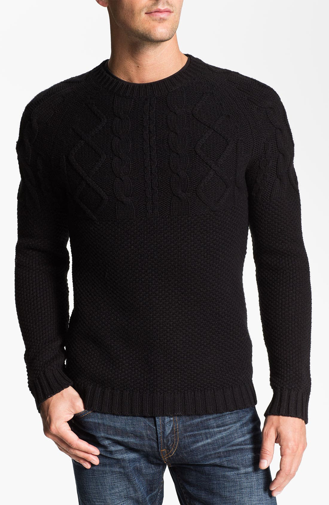 Alternate Image 1 Selected - J.C. Rags Cable Knit Sweater