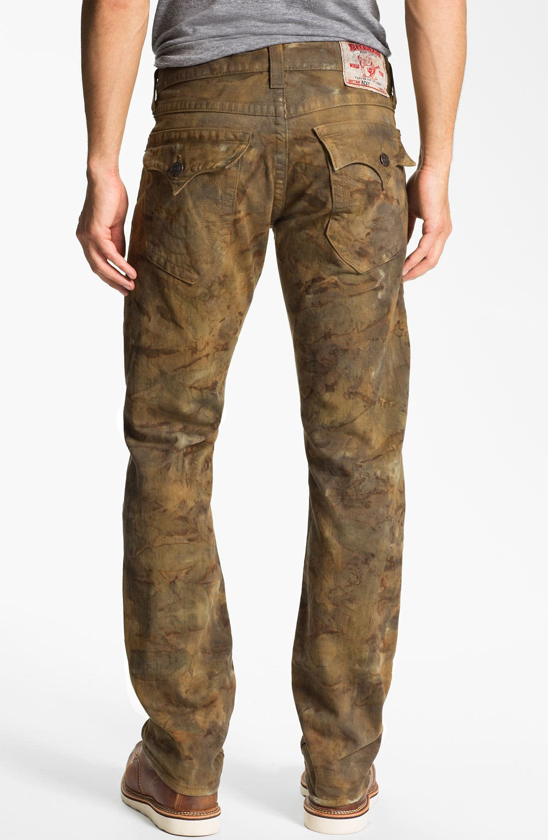Main Image - True Religion Brand Jeans 'Ricky' Straight Leg Jeans (Military Tie Dye)