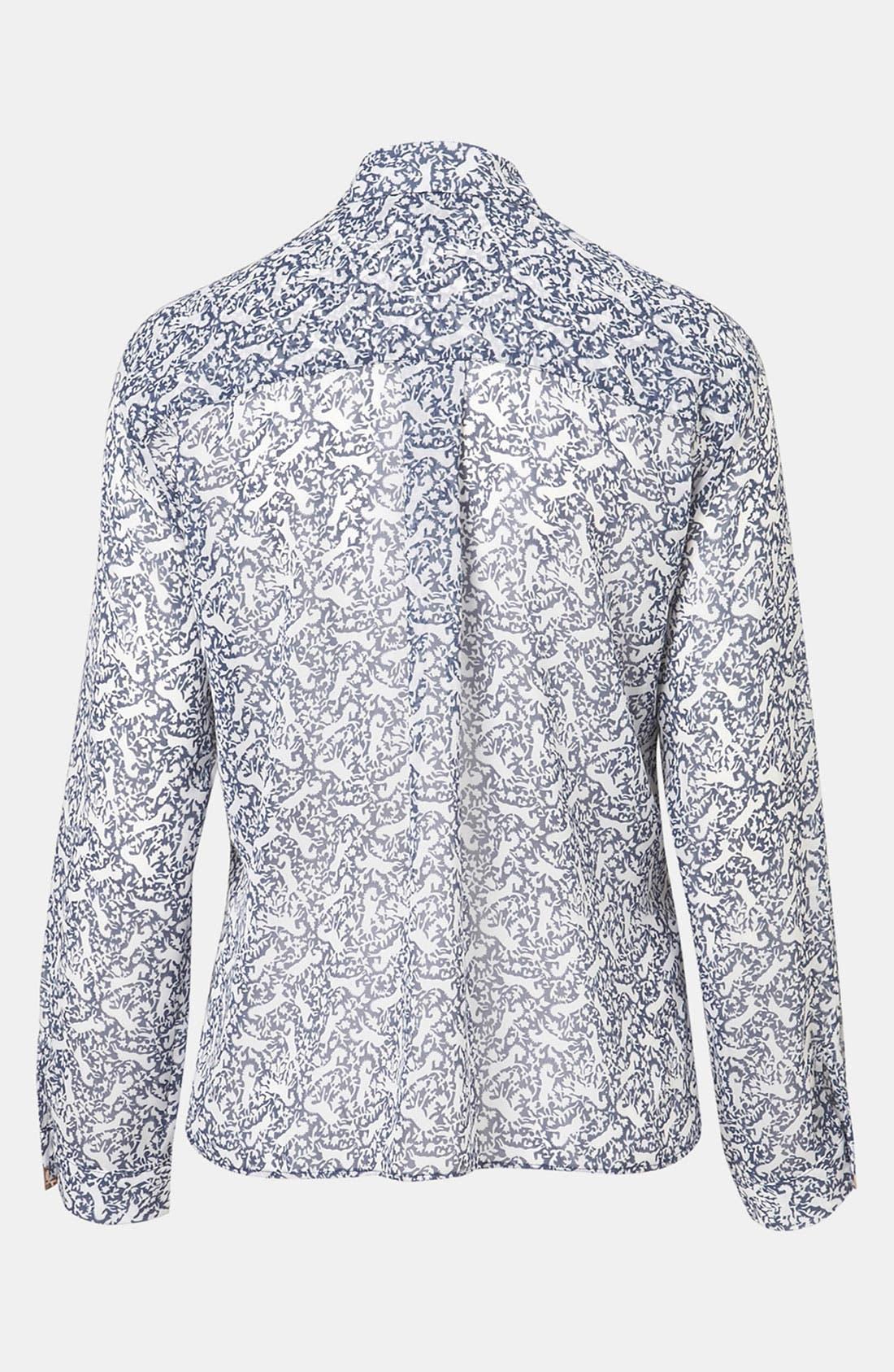 Alternate Image 2  - Topshop Print Western Tip Shirt (Petite)