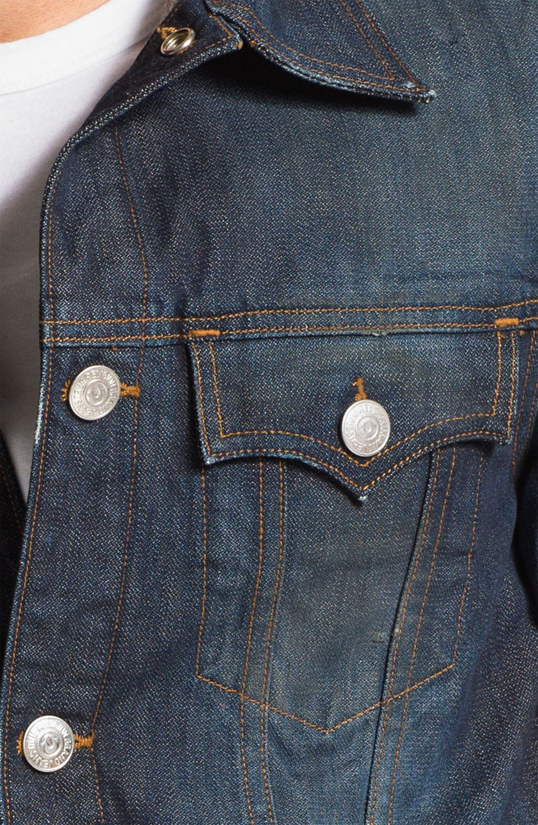 Alternate Image 3  - True Religion Brand Jeans '1971 Jimmy Western Trucker' Denim Jacket