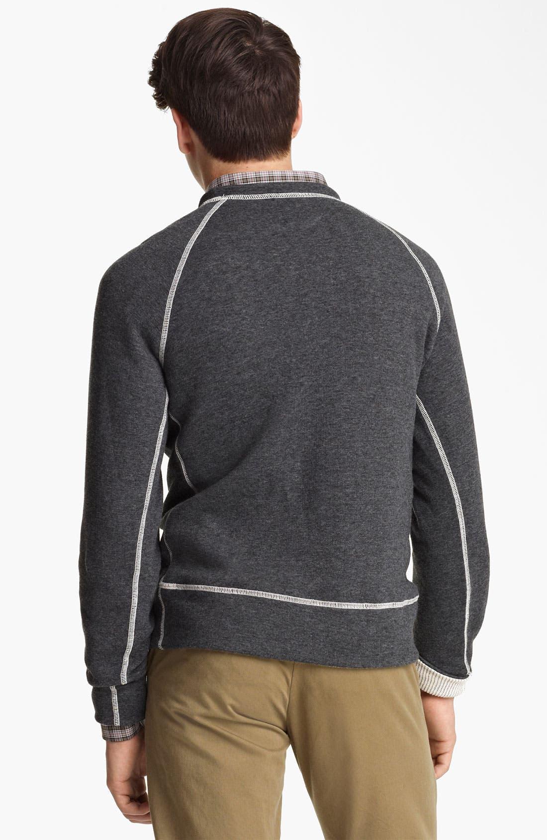 Alternate Image 2  - Billy Reid Raglan Crewneck Sweatshirt