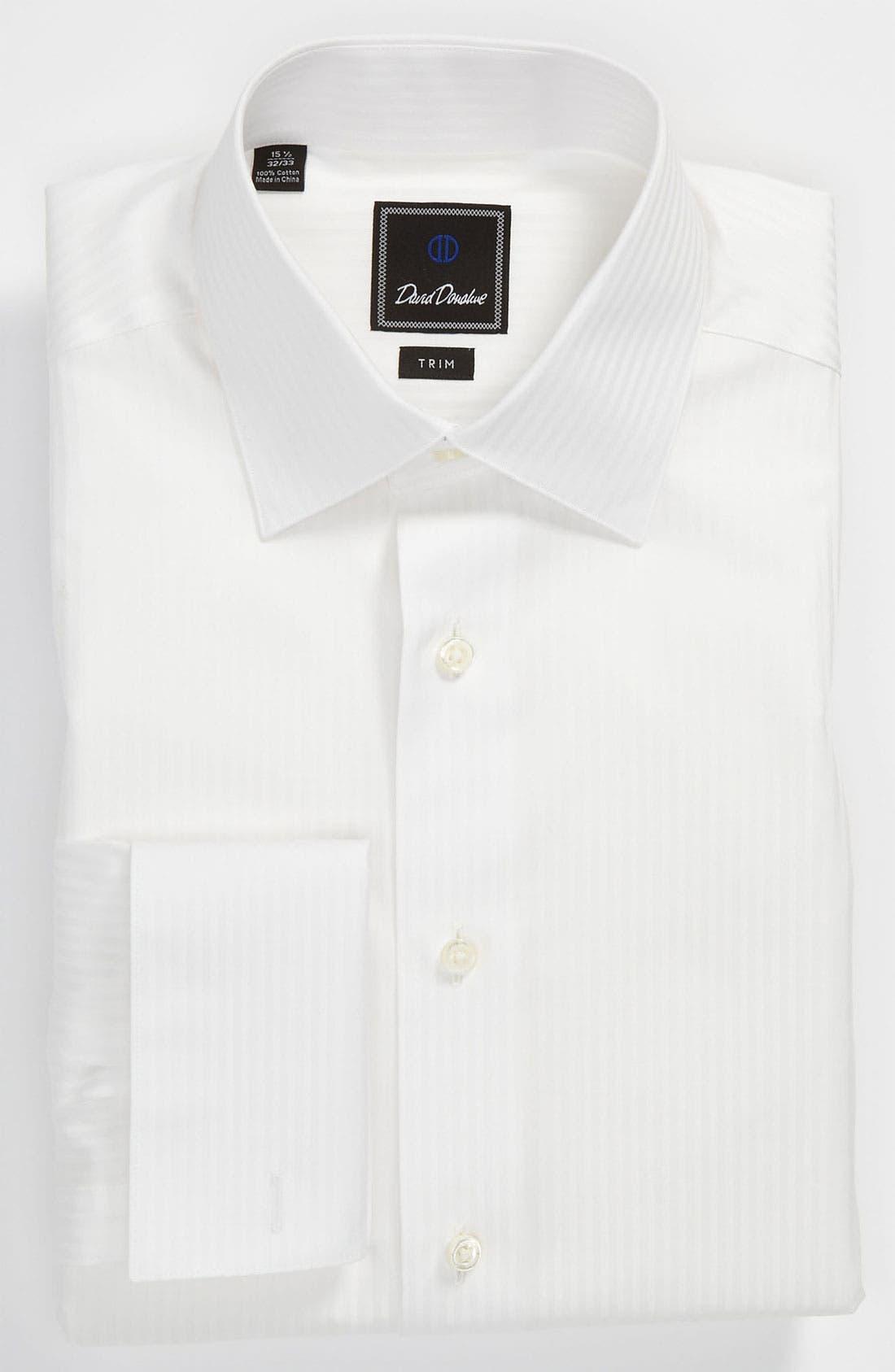 Main Image - David Donahue Trim Fit Tuxedo Shirt