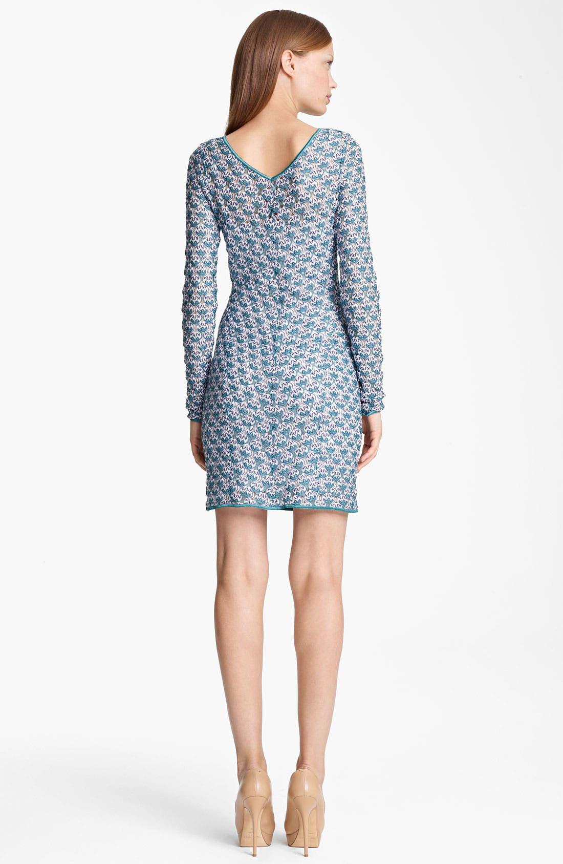 Alternate Image 2  - Missoni Long Sleeve Flame Stitch Dress