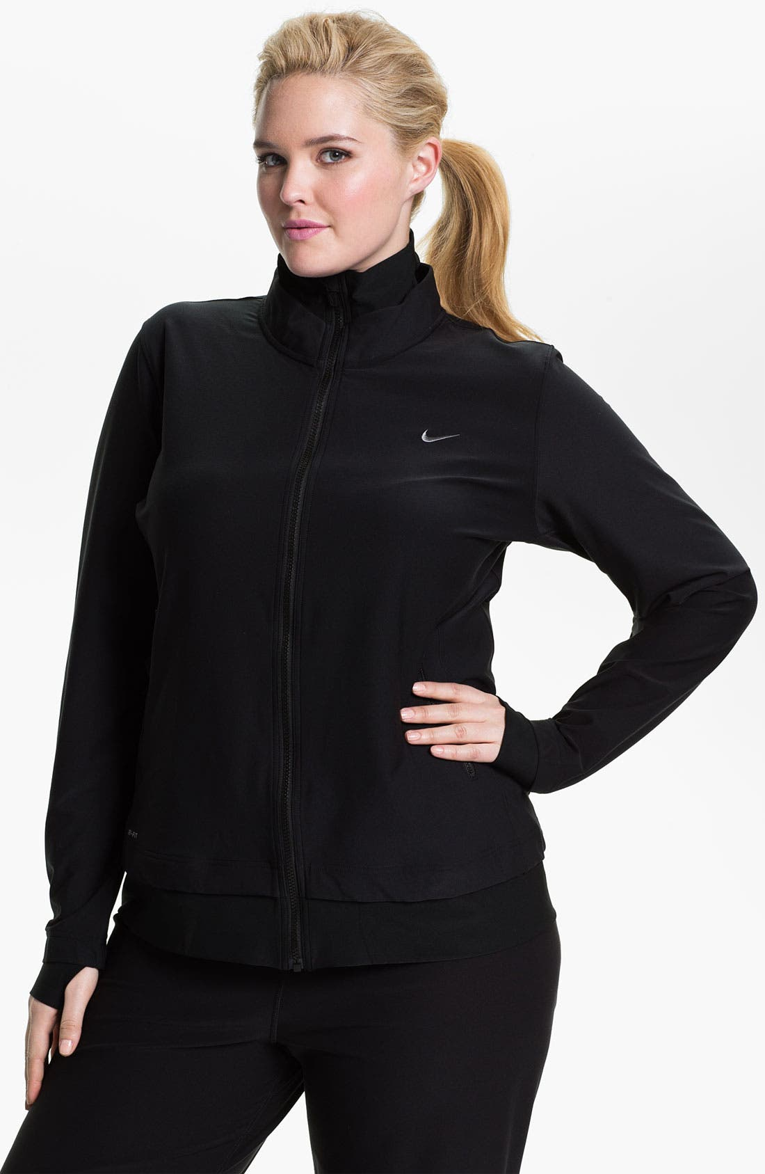 Alternate Image 1 Selected - Nike 'Poly Central' Jacket (Plus Size)