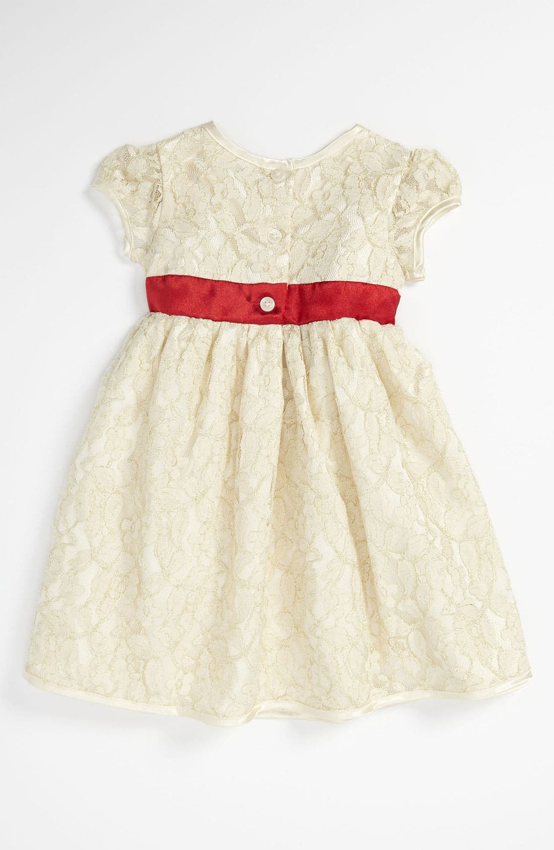 Alternate Image 2  - Sweet Heart Rose Lace Dress (Toddler)