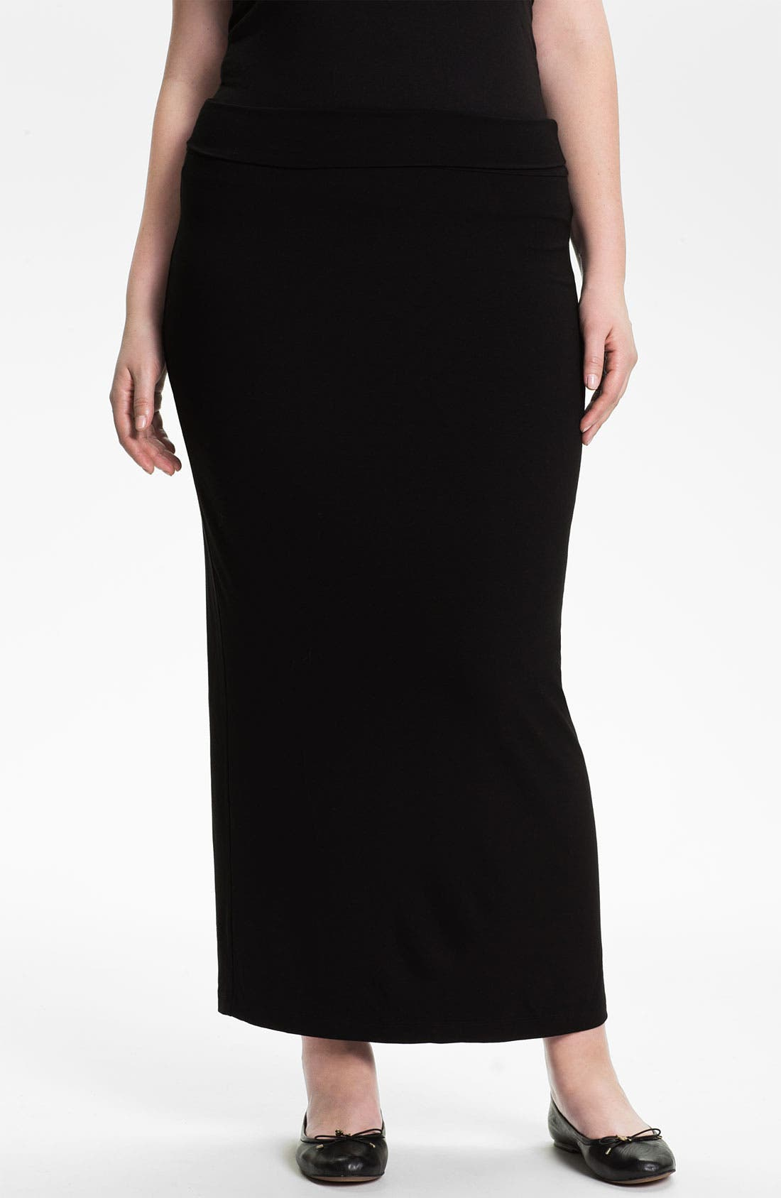 Alternate Image 1 Selected - Eileen Fisher Jersey Maxi Skirt (Plus)
