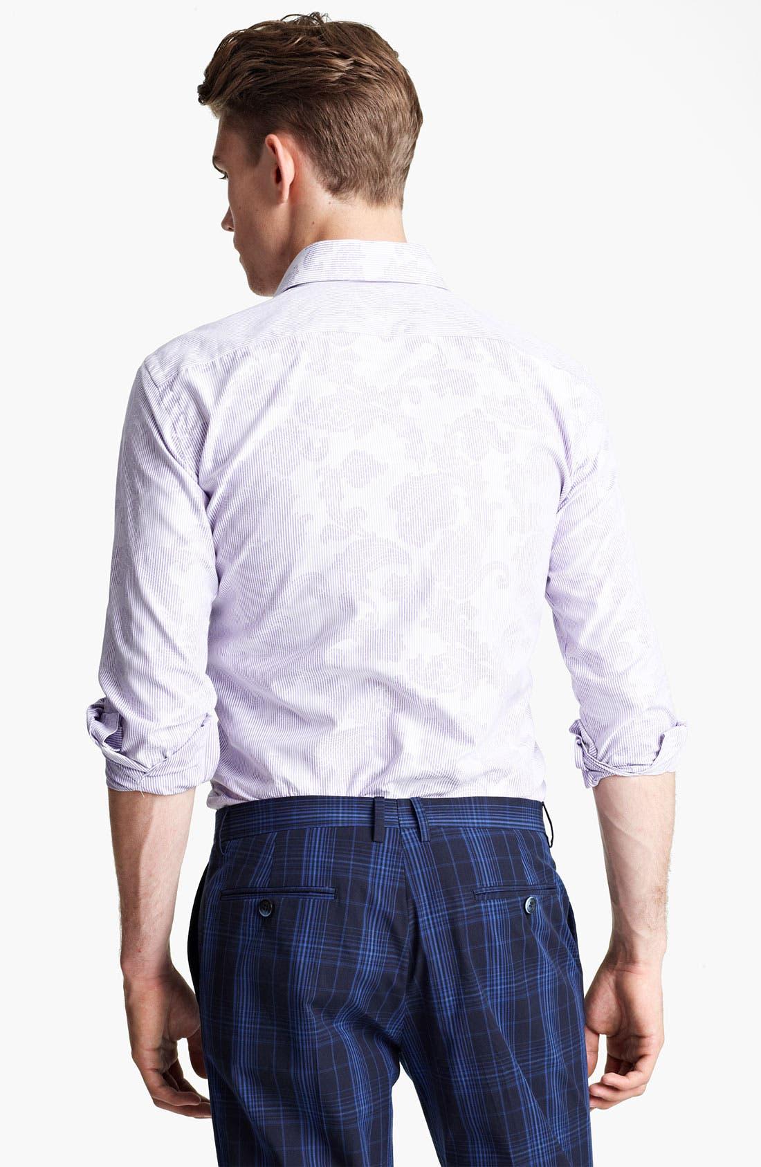 Alternate Image 2  - Etro Pinstripe Jacquard Print Dress Shirt