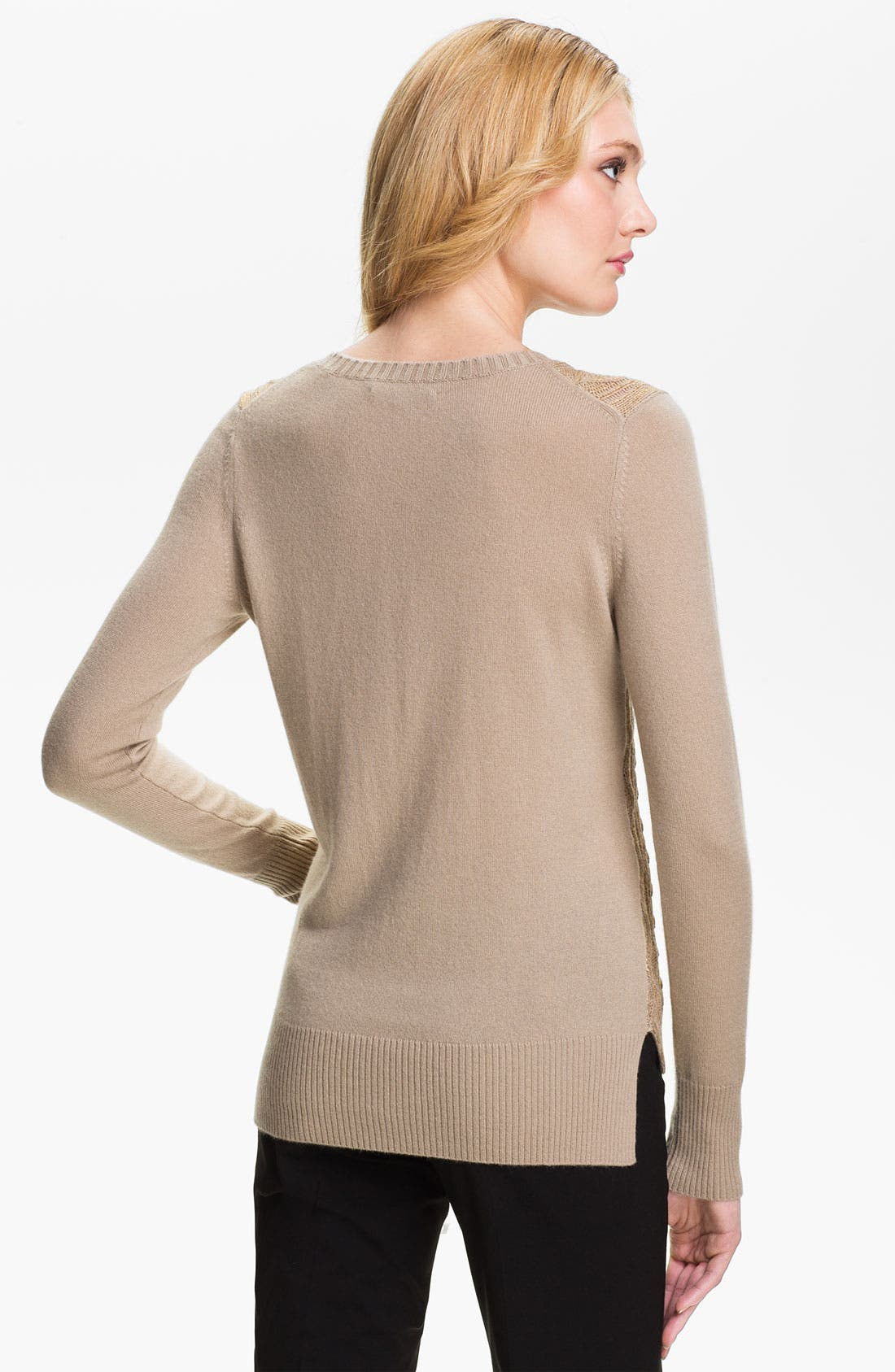 Alternate Image 2  - Christopher Fischer 'Isabel' Foil Front Cashmere Sweater