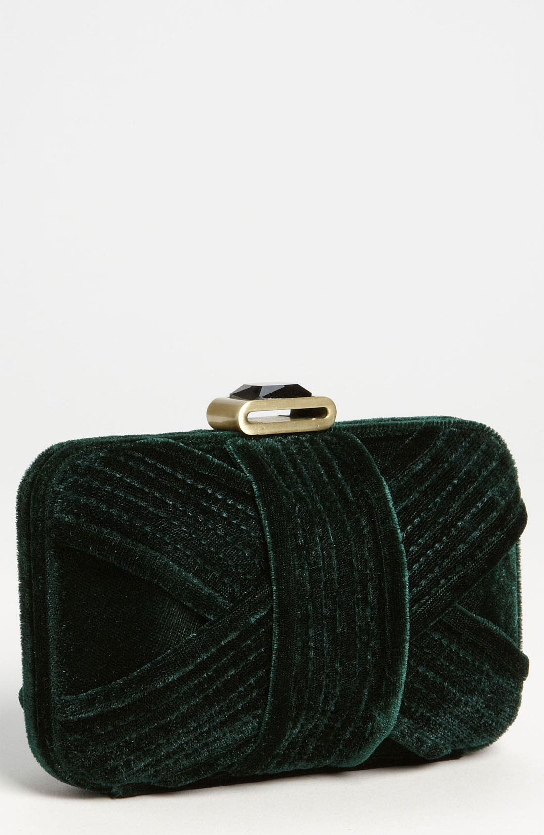 Alternate Image 1 Selected - Glint Velvet Minaudiere Box Clutch