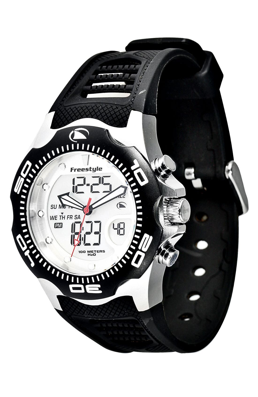 Alternate Image 1 Selected - Freestyle 'Shark x 2.0' Dual Movement Sport Watch, 42mm