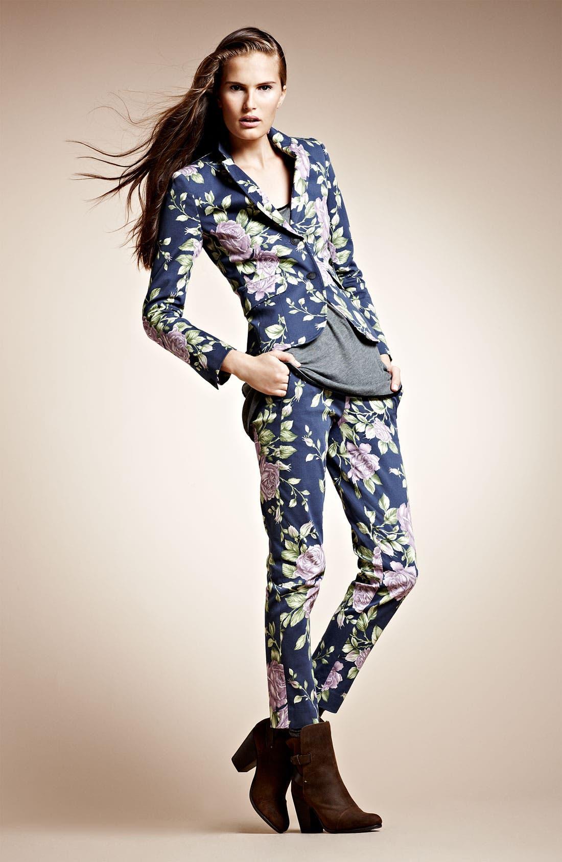 Alternate Image 4  - rag & bone 'Malin' Floral Print Skinny Stretch Pants