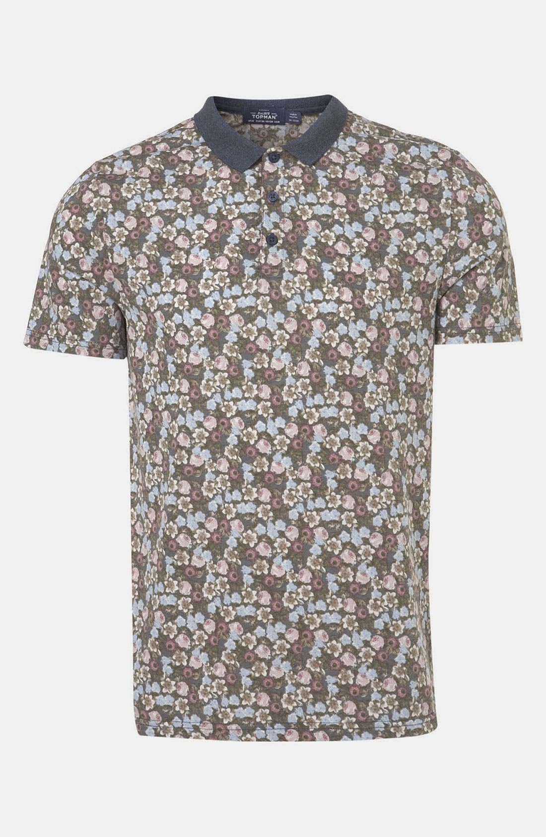 Alternate Image 1 Selected - Topman Ditsy Floral Print Polo