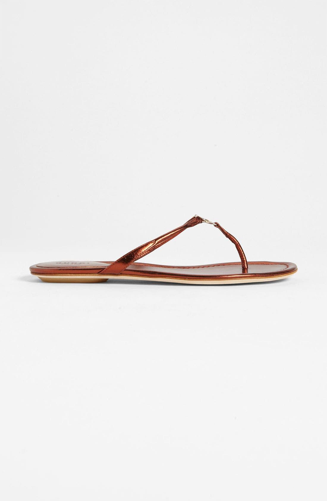 Alternate Image 4  - Gucci 'Elaine' Thong Sandal