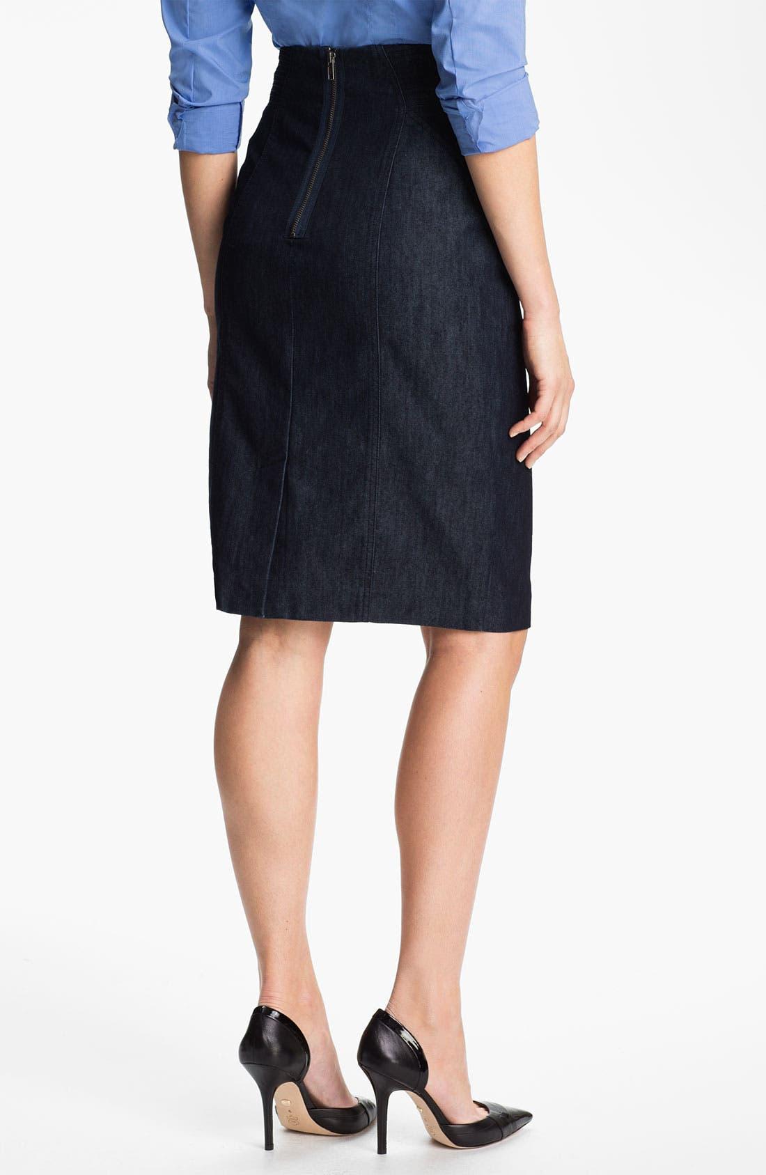 Alternate Image 2  - Halogen® High Waist Denim Skirt