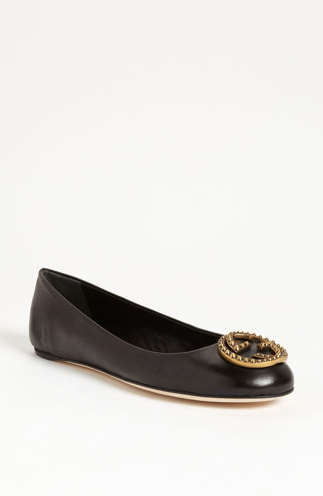 Alternate Image 1 Selected - Gucci Logo Ballet Flat