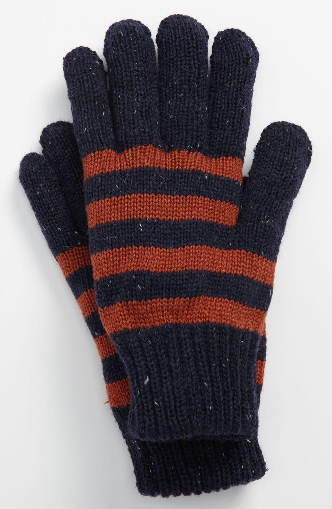 Alternate Image 1 Selected - Topman Stripe Gloves