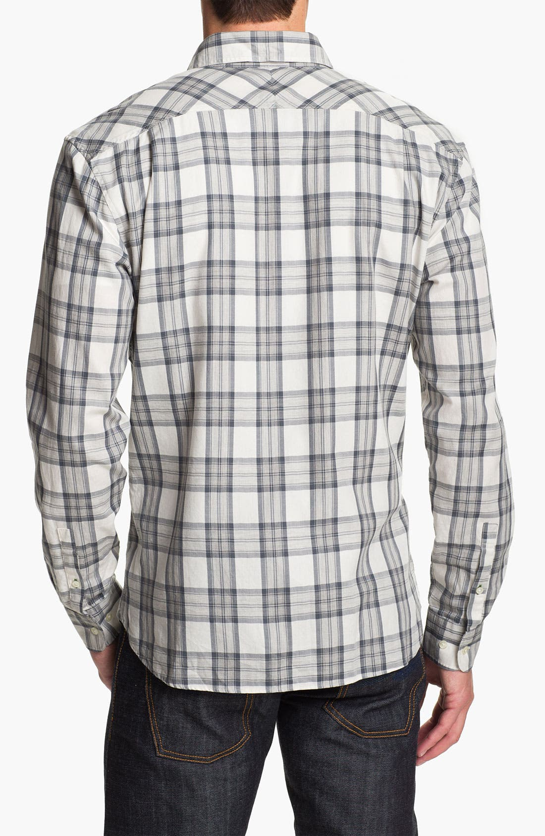Alternate Image 2  - Lacoste Slim Fit Plaid Woven Shirt