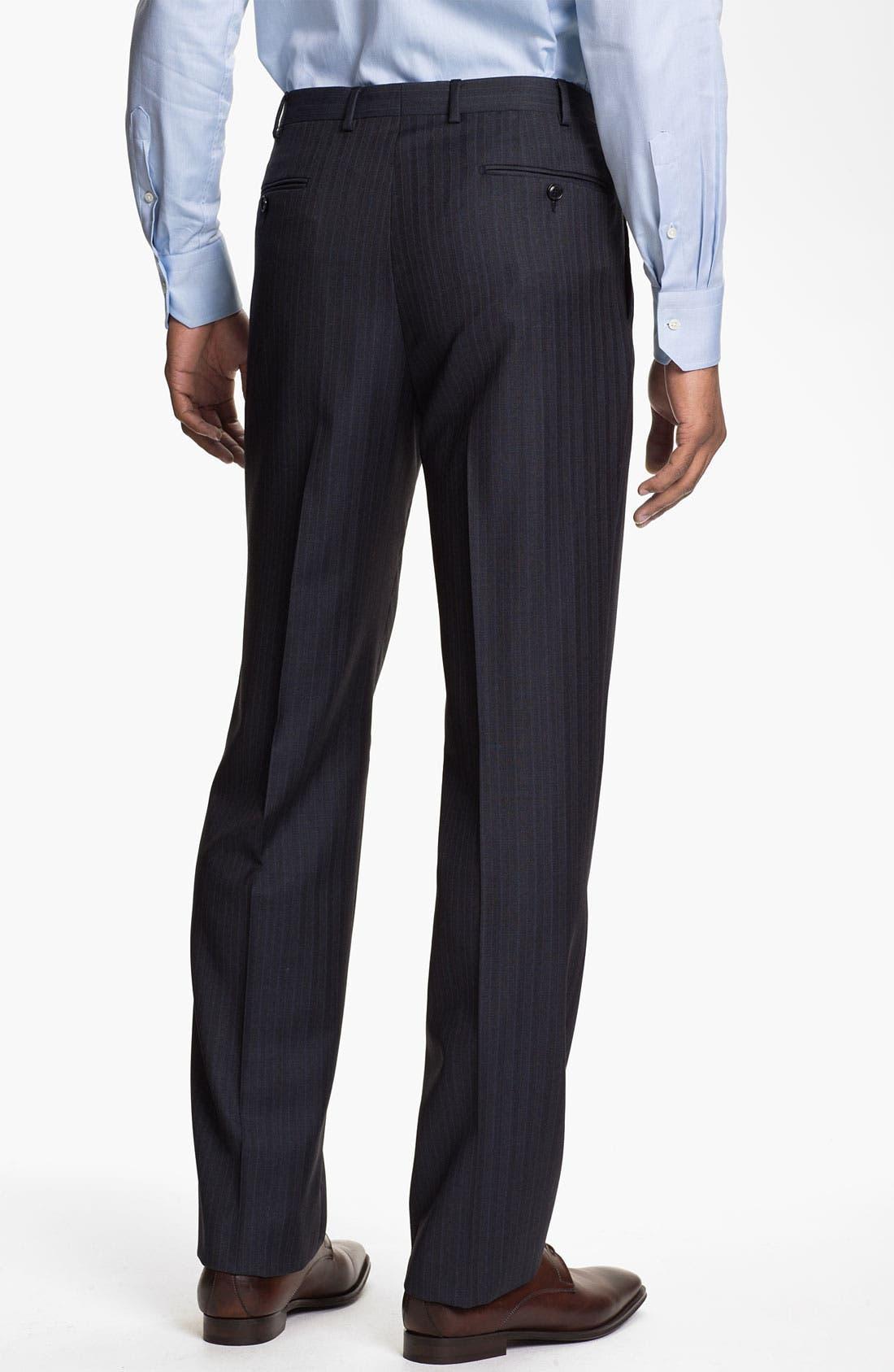 Alternate Image 5  - Pal Zileri Trim Fit Stripe Suit