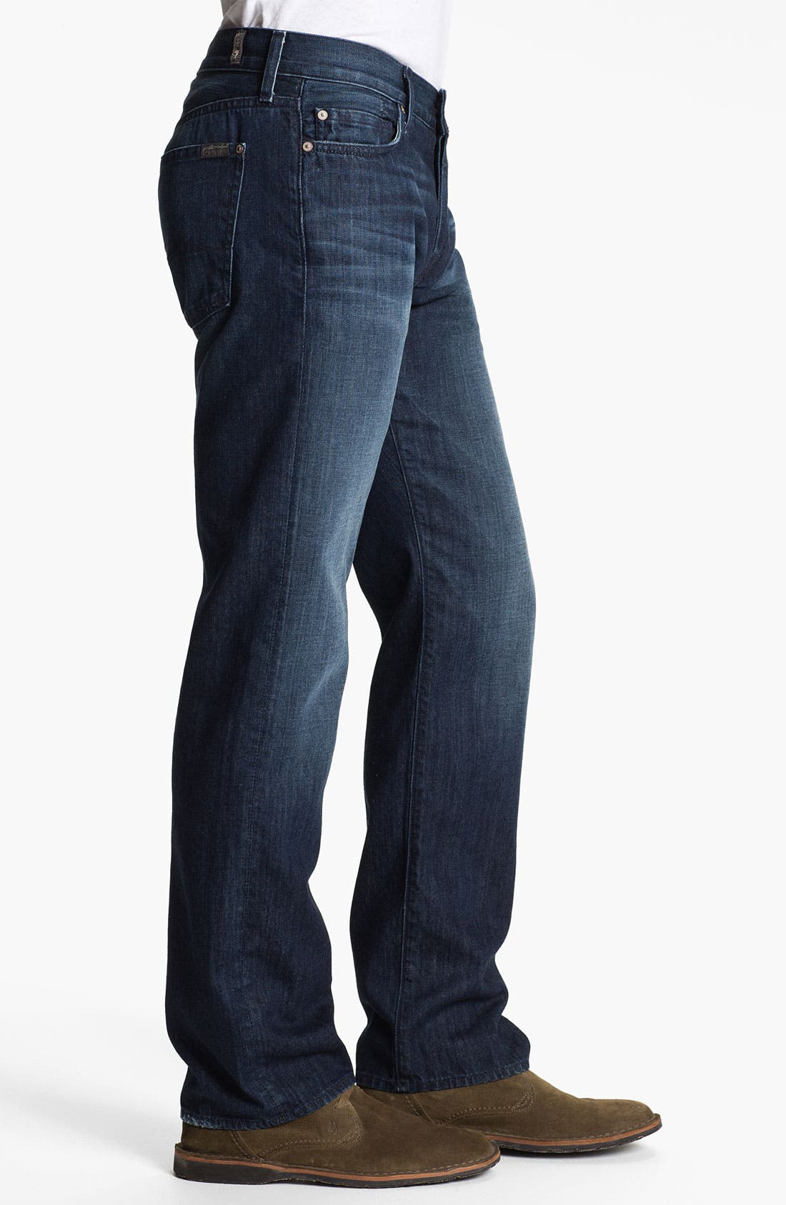 Alternate Image 3  - 7 For All Mankind® 'Standard' Straight Leg Jeans (Contra Costa)