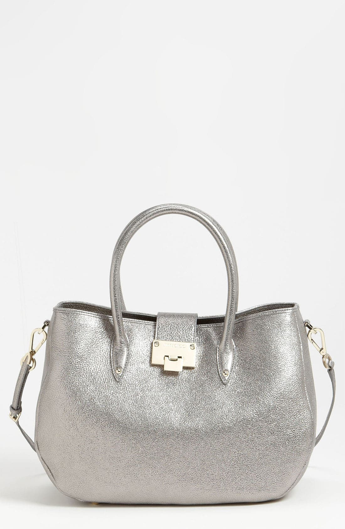Main Image - Jimmy Choo 'Rania' Glitter Leather Satchel