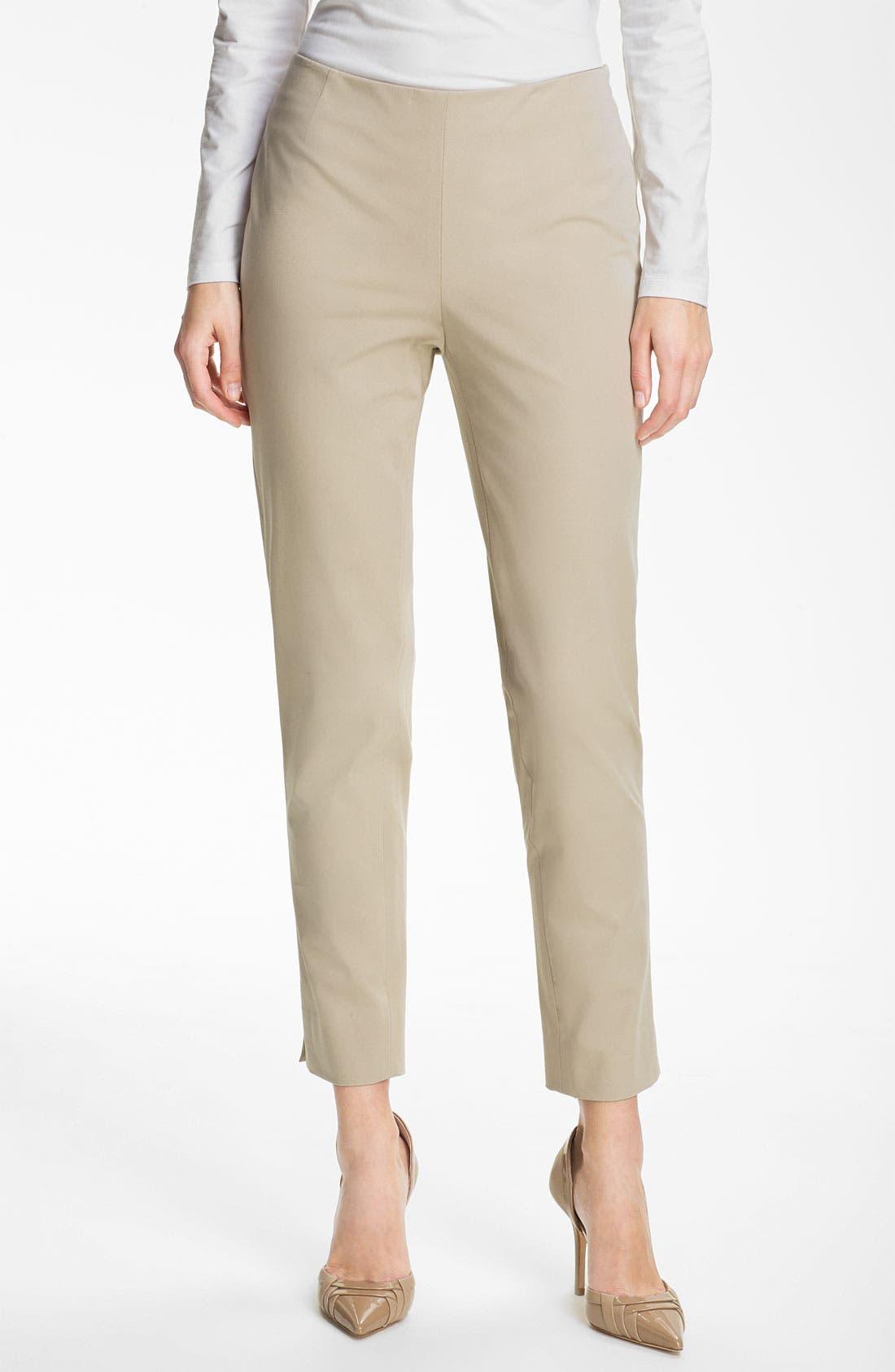 Main Image - Lafayette 148 New York 'Bleecker' Polished Twill Pants
