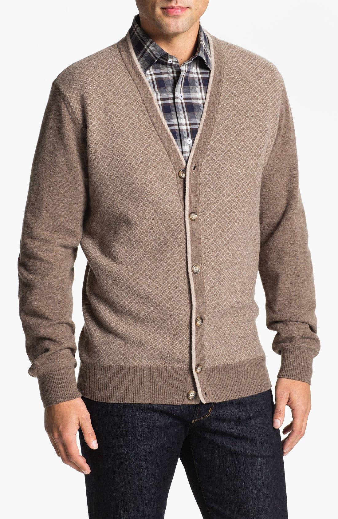 Alternate Image 1 Selected - Franco Danti Wool Button Cardigan